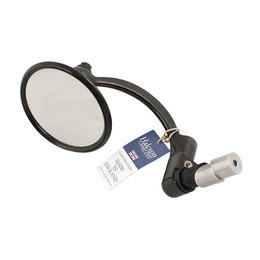 HALCYON 8305 Black Chrome Bar End Mirror