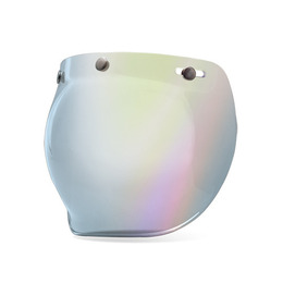 BELL 3-SNAP BUBBLE SHIELD SILVER IRIDIUM