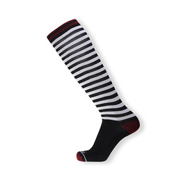 HOLYFREEDOM SOCKS LONG STRIPES BLACK & WHITE