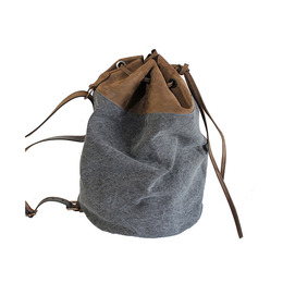 KJøRE PROJECT SLIGHT BACKPACK LEATHER/GUNMETAL CANVAS