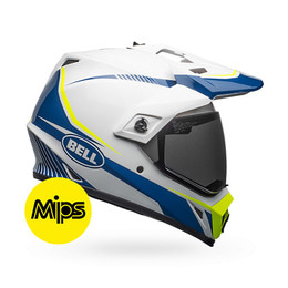 MX-9 ADVENTURE TORCH WHITE/BLUE/YELLOW MIPS
