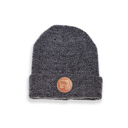 HOLYFREEOM BEANIE LEATHER GRAY