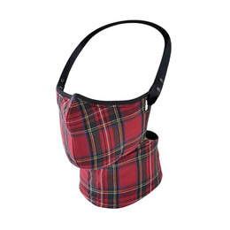 RARE BIRD LONDON RED TARTAN CHECK FACE MASK
