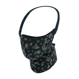 RARE BIRD LONDON BLACK JAPANESE PAISLEY FACE MASK