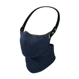 RARE BIRD LONDON NAVY HERRINGBONE TWEED FACE MASK [WINTER]