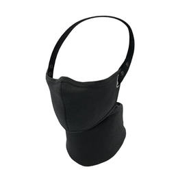RARE BIRD LONDON ALL BLACK HERRINGBONE FACE MASK [WINTER]