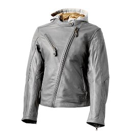 RSD WOMEN'S LEATHER JACKET MIA GUNMETAL