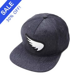 SA1NT 3D EMBROIDERED WING PATCH SNAPBACK INDIGO
