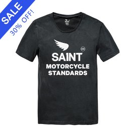 SA1NT MOTORCYCLE STANDARDS TEE BLACK