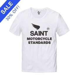 SA1NT MOTORCYCLE STANDARDS TEE WHITE