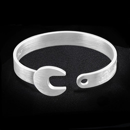 ROUILLE BRACELET 925 BRUSHED SILVER 로일 브레이슬릿 925 브러시드 실버